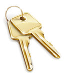 Sheaf of gold keys Stock Photography