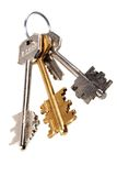 Sheaf of keys. From a house or from office of job Stock Images