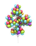 Sheaf from a large number of balloons Royalty Free Stock Image