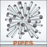 Sheaf of metal piles. A sheaf of metal piles. Vector Illustration EPS10 Royalty Free Stock Image