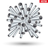 Sheaf of metal pipes Royalty Free Stock Photos