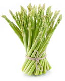 Sheaf Of Asparagus On A White. Royalty Free Stock Photos
