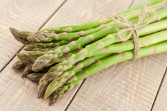 Sheaf of ripe green asparagus Stock Images