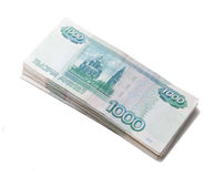 Sheaf of russian roubles Royalty Free Stock Photos