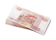 Sheaf of russian roubles Stock Photography