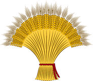 Sheaf of wheat. On a white background Stock Photography