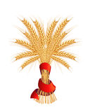 Sheaf of wheat. Icon, on the white Royalty Free Stock Photography