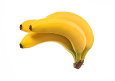 Sheaf yellow fresh banana, isolated on a white Stock Photography