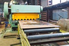 Shear machine for metal sheets Stock Image