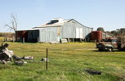 The Shearing Shed. A shearing shed, situated on a farm near Crookwell, in NSW, Australia Stock Image