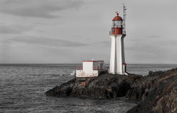 Shearingham Lighthouse black and white contrast Stock Image