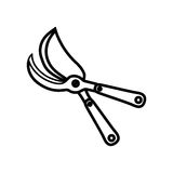 Shears gardening tool. Icon  illustration graphic design Stock Images