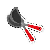 Shears gardening tool. Icon  illustration graphic design Stock Image
