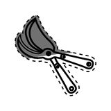 Shears gardening tool. Icon  illustration graphic design Royalty Free Stock Image