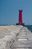 Sheboygan Breakwater Lighthouse, Wisconsin Royalty Free Stock Image