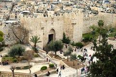 Shechem Damascus Gates in Jerusalem Royalty Free Stock Image