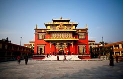 Shechen Monastery in Nepal Royalty Free Stock Image