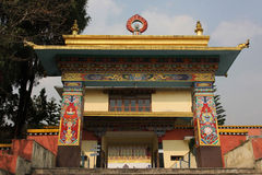 Shechen temple entrance Stock Photography