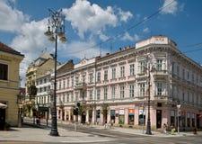 Shechenyi street in Miskolc Stock Image