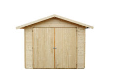 Shed. New shed on a white baggrund Stock Photos