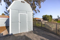 Shed in the backyard southern Cali. Outdoors in Southern California homes ready for real estate listings Royalty Free Stock Photos