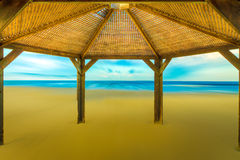 Shed on the beach Royalty Free Stock Photography