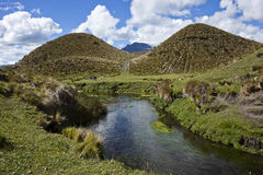 Shed clear water in the Cotopaxi National Park Stock Photography