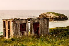 A shed in the coast Royalty Free Stock Photos