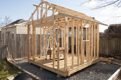 Shed Construction Royalty Free Stock Images