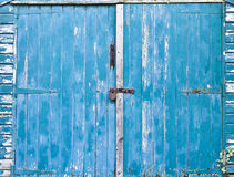 Shed door Stock Photo