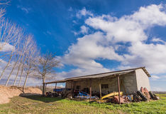 Shed for farm implements Royalty Free Stock Photography