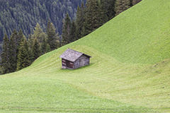Shed on a field Royalty Free Stock Photos