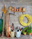 Shed garden Royalty Free Stock Image