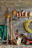 Shed garden five. A garden shed with all the tools of the gardener Stock Images