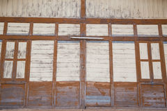 Shed. Old wooden shed in the train station Royalty Free Stock Photos