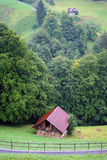 Shed and ravine Royalty Free Stock Images