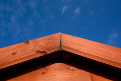 Shed roof apex Royalty Free Stock Image
