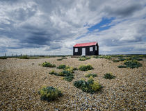 Shed at Rye Harbour Royalty Free Stock Images