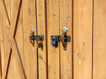 Shed Secured with Two Different Locks Stock Photography