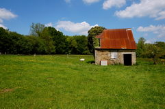 Shed. Small abandoned shed in france Royalty Free Stock Photography