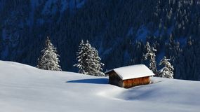 Shed in the snow Royalty Free Stock Photography
