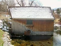 Shed with snow in Utah park Royalty Free Stock Photos