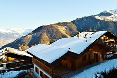 Shed in Swiss Alps Stock Image
