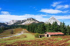 Shed in urkiola mountains Royalty Free Stock Photography