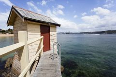 Shed on water Stock Photos