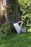 Shed with wheelbarrow Royalty Free Stock Photos