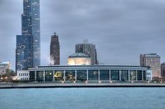 Shedd Aquarium. In Chicago, Illinois with Lake Michigan Stock Photo