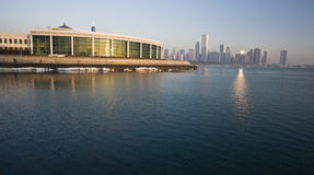 Shedd Aquarium in Chicago. First ray of light Stock Image