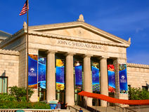 Shedd Aquarium Chicago Illinois. Chicago, USA - June 07, 2005: View of the main entrance to the Shedd Aquarium near downtown Chicago, Illinois.  The Shedd Stock Photos