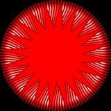 Shede vermelho moderno da estrela Imagem de Stock Royalty Free